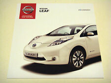 Nissan . Leaf . Nissan Leaf . September 2014 Sales brochure