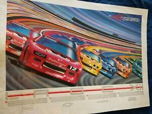 1988 IROC Racing Schedule Poster Chevrolet Chevy Camaro