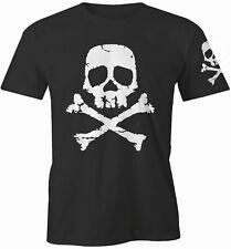 Space Pirate Captain Harlock Skull And Cross Bones Men's T-Shirt + Printed Sleev