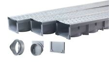 """Drainage Trench, Channel Drain Galvanized Steel Grate - 3 x 39"""" - (117"""" Total)"""