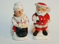 Vintage Napco Santa and Mrs Claus Salt and Pepper Shakers AX920S & AX902P