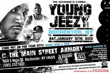 "YOUNG JEEZY ""THE SNOWMAN IS COMING"" 2013 ROCHESTER CONCERT TOUR POSTER - Hip Hop"