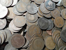 100 copper Pennies coins From 1895-1967 100 coins in this bulk lot very old