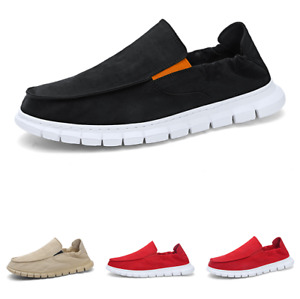 Mens Driving Moccasins Flats Breathable 39-44 Canvas Pumps Slip on Loafers Shoes