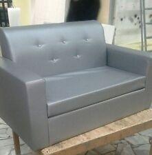 Divano due 2posti Divanetto argento swarosky ecopelle sofà poltrona relax sedia