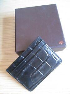BNIB MULBERRY Black Croc Embossed Card Holder Wallet  - unwanted gift