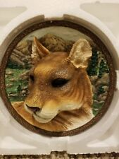 Faces of the Wild: The Cougar Collector Plate 3D 3rd Issue Bradford Exchange