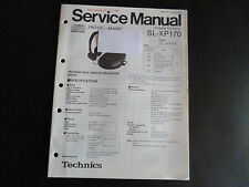 ORIGINALI service manual TECHNICS Portable CD Player sl-xp170
