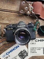 Chinon CM-3 35mm Film Camera with Chinon 55mm f 1.7 Lens & Strap