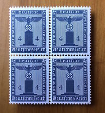 EBS Germany 1942 4 Pfennig Nazi Party Official Dienst BLOCK 4 MNH Michel 157**