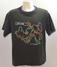 Vtg 80s Disney Goofy California Retro Neon Velva Sheen T Shirt Mens L Usa Made