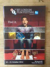 BFI LONDON FILM FESTIVAL 2012 112-PAGE COLOUR PROGRAMME NEW & MINT