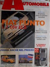 L'automobile  585 1999 (Inserto) Fiat Punto 1.2. 16 V ELX. Aci Mobile [Q70]