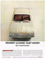 Vintage 1961 Magazine Ad Pontiac Tempest Le Mans Dust-Kicker But Sumptuous