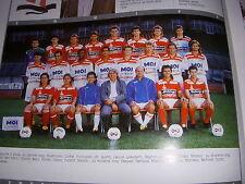 FOOTBALL COUPURE LIVRE PHOTO COULEUR 20x10 D2 GrA FC ANNECY 1989/1990