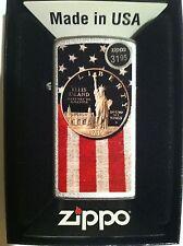 Zippo  Collectible Slim Lighter Liberty Dollar and US Flag