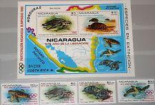NICARAGUA 1980 2099-02 Block 114 Protected Fauna Turtles Olympics Moscow ovp MNH