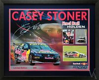 CASEY STONER SIGNED & FRAMED RED BULL RACING LIMITED EDITION POSTER MOTOR RACING