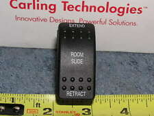 RV Bus ROOM SLIDE Carling Rocker Dash Switch Extend Retract 20a 12v LED Light