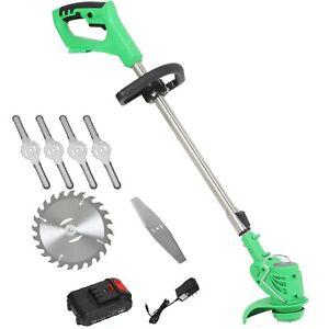 Electric Grass Trimmer Lawn Mower 21V grassBrush Cutter Kit Garden Tools n Blade