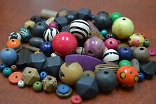 500+ PCS ASSORT COLOR ROUND TUBE WOOD BEADING BEADS 2 POUNDS #BD-759