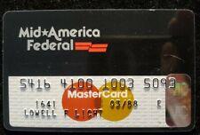 Mid☆America Federal MasterCard credit card exp 1988♡Free Shipping♡cc660