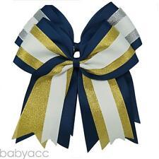 "8 "" 2pcs/lot Three Layers Cheer Bows Elastic Cheerleading Girl Ponytail  Holder"