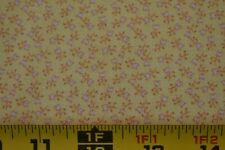 By 1/2 Yd, Vintage, Gold & Pink Calico on Yellow Quilt Cotton, P1106