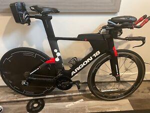Argon 18 e119+ Triathlon, Large, TT, Disc, Time Trial SRAM e-tap