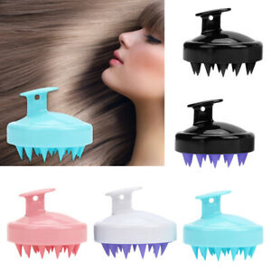 1x Silicone brush comb scalp shampoo shower hair washing massage massager