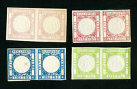 Italy Stamps XF OG H 4x Early Proofs Very Rare