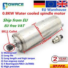 0.8KW 800W Water Cooled Spindle Motor 220V 24000rpm ER11 65mm CNC Milling 〖EU〗