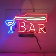 "New Bar Bottle Martini Neon Light Sign Lamp Beer Pub Acrylic 14"" Real Glass"