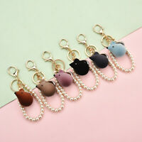 Pearl Mouse Key Chain Animal Bag Keyring Car Accessories Keyring Pendant GiftsTE