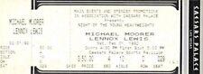 Lennox Lewis Levi Billups Michael Moorer  Mike White On Site Boxing Ticket