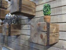 Wandregal 3 teilig Tannenholz naturbraun Regal Ablage Wand-Konsole mit Metall