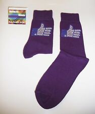 "Purple Bling Design novelty Socks - thumbs up - Facebook ""like"" style"