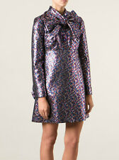 Saint Laurent YSL Tie Collar Mini Dress in Lurex Techno Jacquard 34 - $4,790