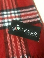 Fraas Cashmink Red Plaid Scarf NWT Made in Germany