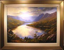 Robyn Collier original oil 'Reflection on Lake Hanson, Cradle Mountain Tas '