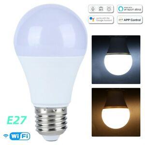 E27 WiFi Smart Light LED Bulbs Lamp Voice Control For Amazon Alexa/Google Home