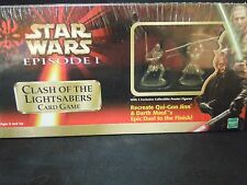 Star Wars Episode I Clash Of The Lightsabers Card Game Pewter Figurines NEW