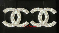 AUTHENTIC CHANEL CC Logo Earrings Crystal Pearl Gold Large New 2017 FALL LATEST