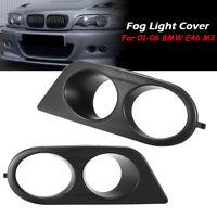L+R Front Nebelscheinwerfer Nebelleuchte Abdeckung Blenden Rahmen Für BMW E46 M3