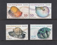 COCOS Islands 2007 LIVE SEA SHELLS design set of 4 MNH - Marine Life - Wildlife