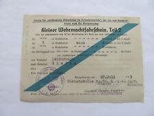 2 WK,Kl Wehrmachtfahrschein T2,v Lauterbach - Gießen, Dienstst FP Nr 45746  1943