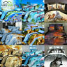 3D Quilt Duvet Covers HD Printed Animal Pillowcase Bedding Sets Twin/Queen Size