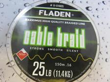 FLADEN 150m FISHING BRAID 25lb YELLOW 0.16 Teflon Coated Braided line for Reel