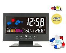 Station Météo intérieur Thermomètre Hygromètre Horloge Snooze Rétro-éclairé/voix