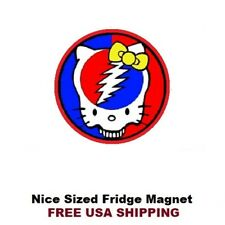 205 -  Nice Grateful Dead Hello Kitty Fridge Refrigerator Magnet